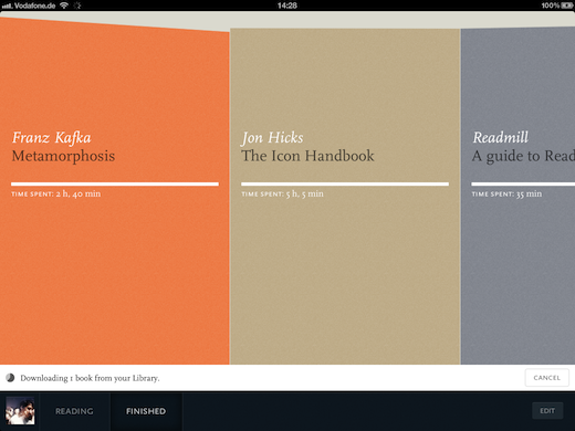 Readmill for iPad Library Syncing copy 2 Readmill upgrades its social e reading platform, raises Series A funding