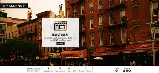 SMALLKNOT Welcome to Smallknot Smallknot launches in New York to help you invest in local, neighborhood businesses