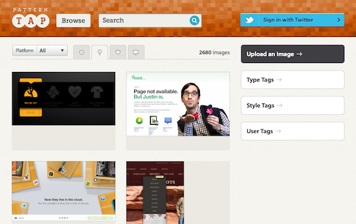 Screen Shot 2012 06 11 at 7.33.15 PM Interaction design firm ZURB acquires Pattern Tap, a website for design inspiration