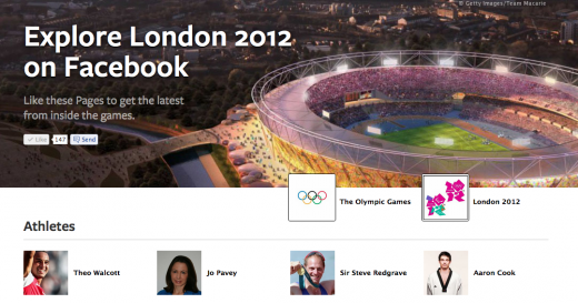Screen Shot 2012 06 18 at 10.32.10 520x273 Facebook launches new Olympic hub to highlight Pages for athletes, teams and sports