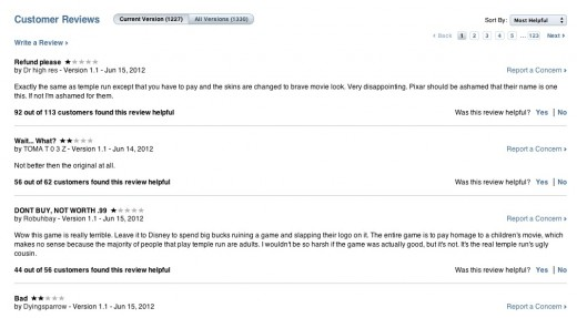 Screen Shot 2012 06 21 at 1.25.12 PM 520x287 Its time for Apple to allow developers to respond to App Store reviews