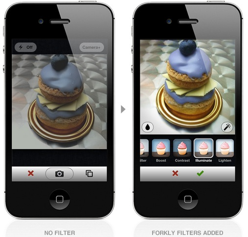 Screen Shot 2012 06 21 at 10.27.40 AM Foodie favorite Forkly finds food friendly photo filters and fantastic, fresh features