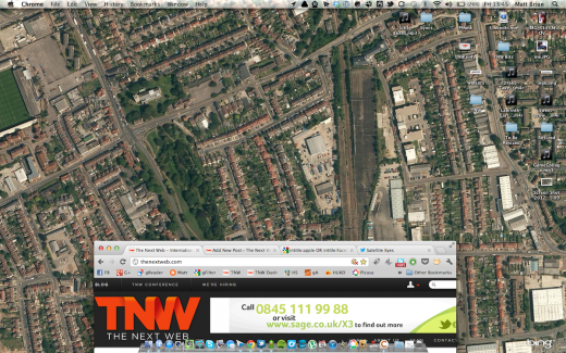 Screen Shot 2012 06 22 at 13.45.42 520x325 Satellite Eyes automatically changes your Macs wallpaper to a satellite view of where you are now