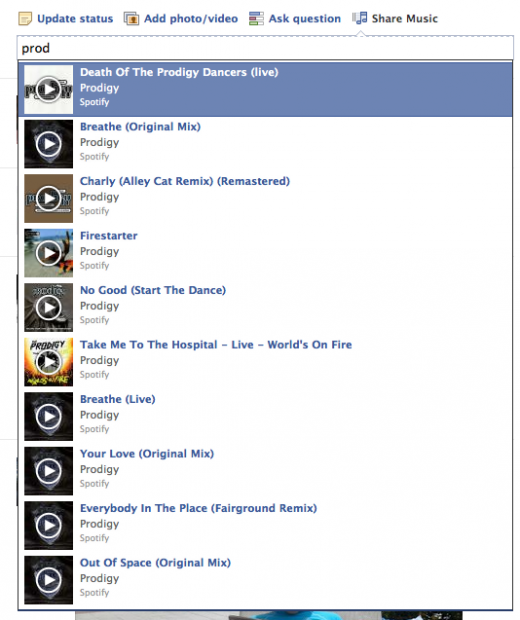 Screen shot 2012 06 13 at 10.19.57 520x620 Facebook begins testing new Share Music feature in News Feed Share box