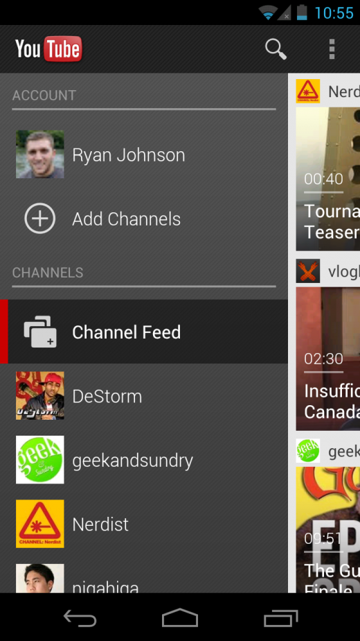Screenshot 2012 06 26 22 55 37 520x924 Googles new YouTube app for Android 4.0 is rolling out today