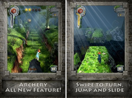 TRB1 horz 520x386 Disney/Pixar backed Temple Run: Brave now available for the iPhone and iPad in the US