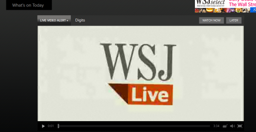WSJLIVE1 520x269 The Wall Street Journal launches new WSJ Live site, and plans for Facebook Open Graph integration