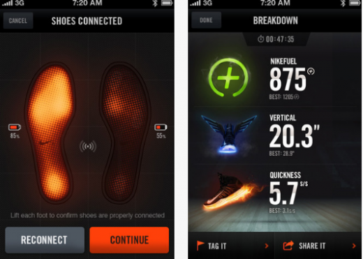 a12 520x371 Nike continues its push to own the sports tech space with new Nike+ Basketball and Training apps