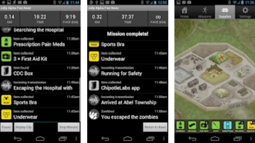 a8 520x292 Braaainns! Zombies, Run! lands on Android to let you keep fit by outpacing the great undead