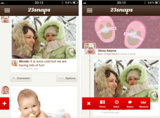 b1 520x386 23snaps: A sweet, private social networking app for parents