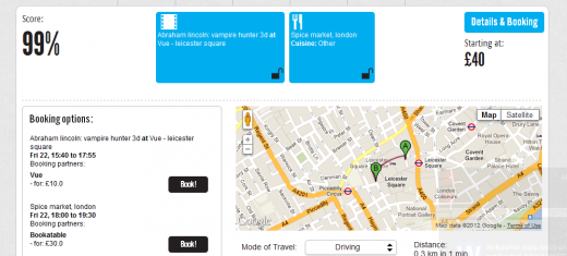 e3 520x235 Timista: A simple Web app to help you decide what to do in London