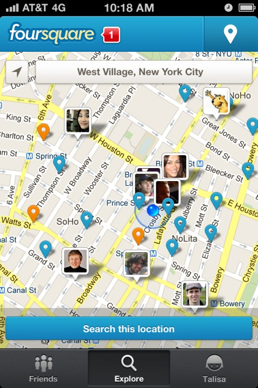 exploremap 520x780 The all new foursquare launches to cash in on making the real world easier to use