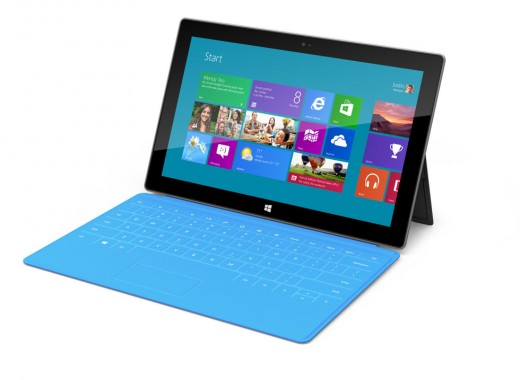 gallery 1 large 520x380 Check out close up pics of Microsoft Surface, a tablet with a kickstand and multi color keyboards