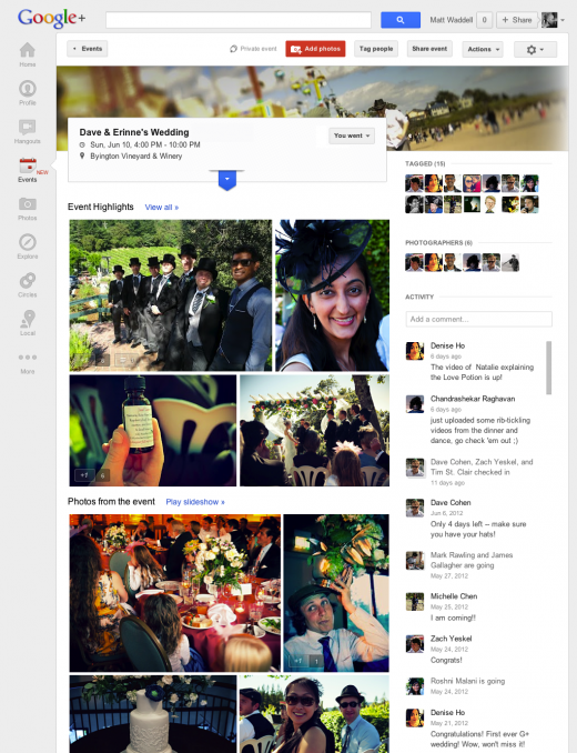 googleplusphotocoll 520x678 Google+ announces Events feature that is active before, during and after your party
