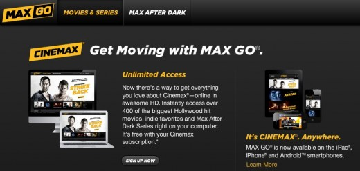 max go 520x248 Comcast expands Xfinity TV slate, offers MAX GO on tablets and smartphones