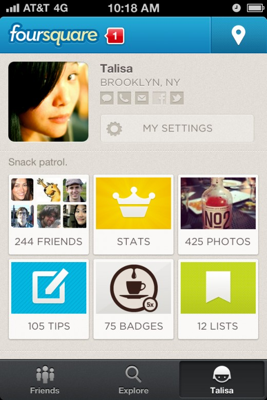 me 520x780 The all new foursquare launches to cash in on making the real world easier to use