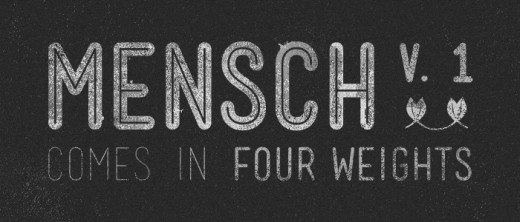 mensch 520x222 Check out the latest typefaces from the Lost Type Co op: A pay what you wish foundry