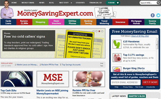 mse UK Consumer finance website MoneySavingExpert.com acquired by MoneySupermarket for up to $133.9m