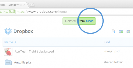 part1 520x267 Ctrl+Z: You can now Undo actions in Dropboxs Web interface, with keyboard shortcuts too