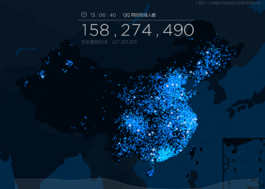 qq users 520x371 Think Skype is big? Go see how many people are using Tencents QQ right now