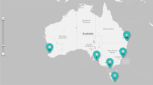 startupnation2 Floq map of Australian tech startups shows whats up down under