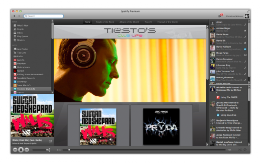 tiesto screenshot 1 520x325 Spotifys first artist specific apps go live