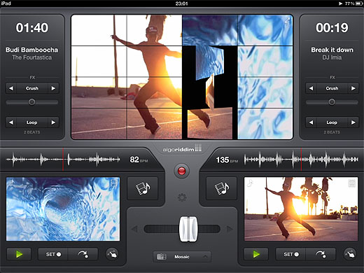 vjay Mix and mashup music videos on your iPad with Vjay