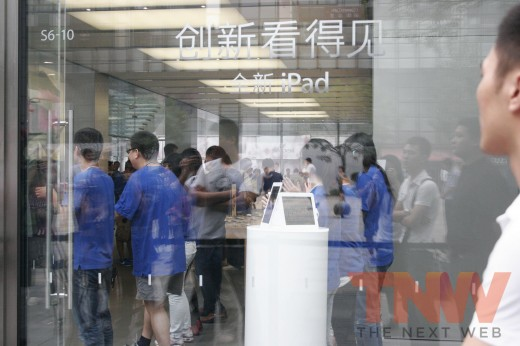1 520x346 Apples new iPad launches in China with short queues and no chaos