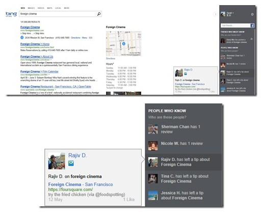 2012 07 18 09h26 19 Bing integrates Foursquare data into its search results to boost personal recommendations