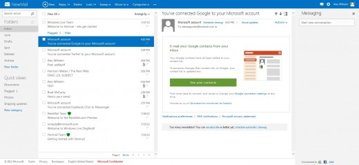 2012 07 30 16h56 09 520x239 Microsoft launches Outlook.com, a clean, fresh take on webmail that puts it back in the game