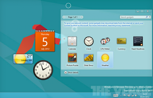 Capture1 520x332 As their niche is replaced, Microsoft appears set to delete desktop gadgets from Windows 8