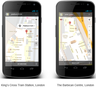 GMAPSIN Google Maps goes indoors in the UK, launching with 40 venues across the country
