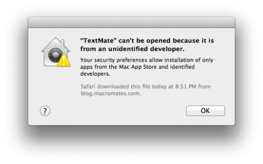 Gatekeeper Error MAS ID Only 520x325 TNW Review: OS X 10.8 Mountain Lion