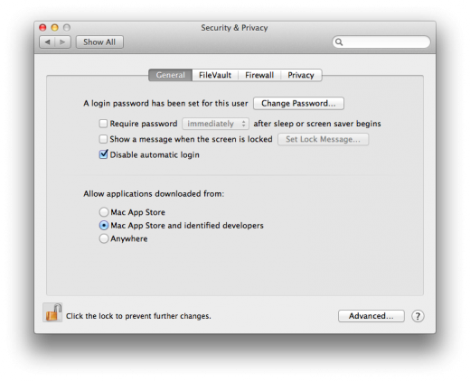 Gatekeeper preferences 520x422 TNW Review: OS X 10.8 Mountain Lion