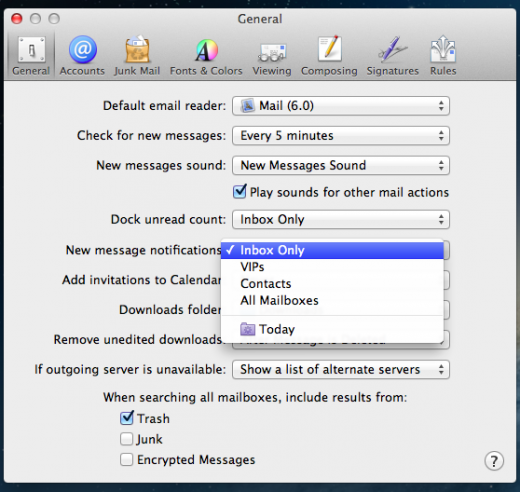 Mail VIP Control 520x492 TNW Review: OS X 10.8 Mountain Lion