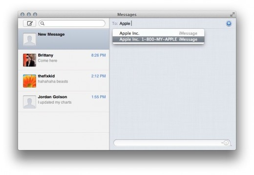 Messages New1 520x358 TNW Review: OS X 10.8 Mountain Lion