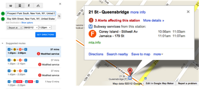 NY Alerts Transit Desktop Google Maps strengthens its transit offerings, adds planned subway changes in NYC
