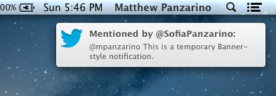 Notification Banner Style TNWs Complete Guide to Notifications in OS X 10.8 Mountain Lion