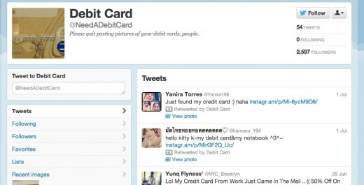 Notification Center 520x265 This Twitter account retweets misguided souls who share photos of their bank cards