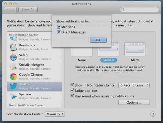 Notification Preferences Options twitter 520x392 TNWs Complete Guide to Notifications in OS X 10.8 Mountain Lion