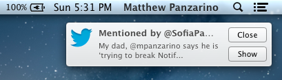 Notification Single Notification Alert TNW Review: OS X 10.8 Mountain Lion
