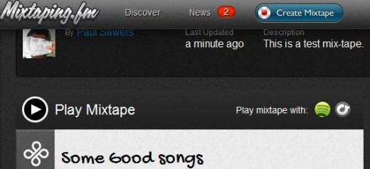 PlayMixtapeWith 520x238 Mixtaping.FM does a good job of reimagining the mix tape for the digital generation