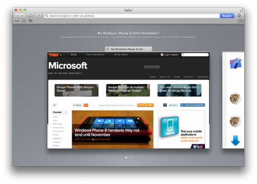 Safari visual tabs 520x372 TNW Review: Safari 6.0 is the best version of Apples browser yet