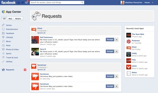 Screen Shot 2012 07 05 at 12.51.50 PM 520x307 Do you remember Facebook App Center? It appears to be popping up for users on the web now