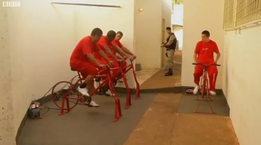 Screen Shot 2012 07 13 at 5.28.03 PM 520x288 Brilliant: Brazilian prisoners get out early by pedaling exercise bikes to generate electricity