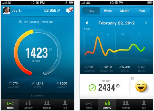 Screen Shot 2012 07 27 at 4.31.55 PM 520x374 Nike updates FuelBand app for iOS to add multiple band support, increase sync speed