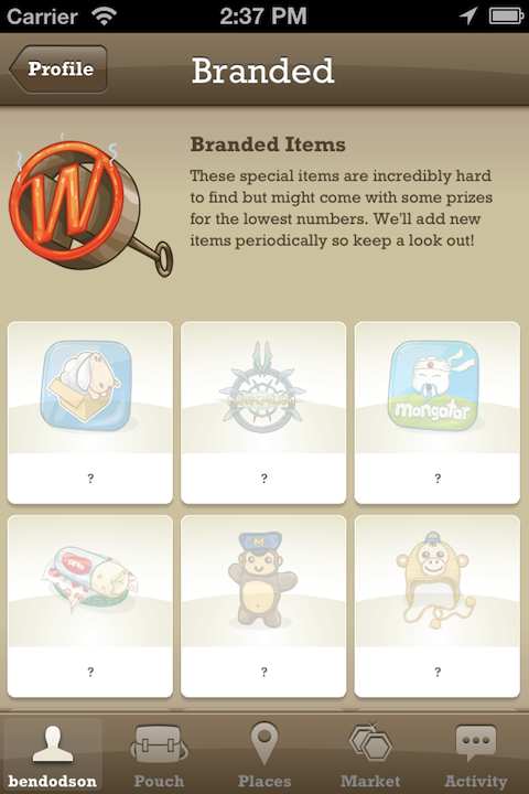 TTTT 39 Branded Items WallaBee, the great digital collectibles game for iPhone, gets a massive update