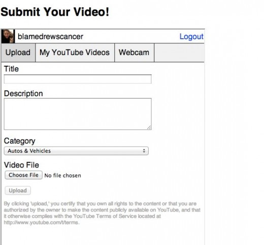 Tell Us How You re Using YouTube Direct Lite 1 520x481 Google launches its new YouTube upload widget for site owners