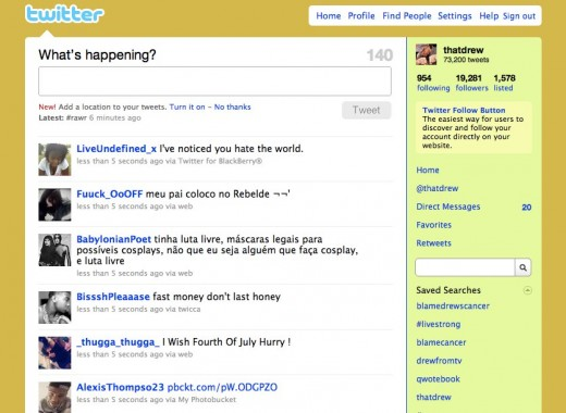 Twitter   Public Timeline 520x380 Take a scroll down Twitter memory lane