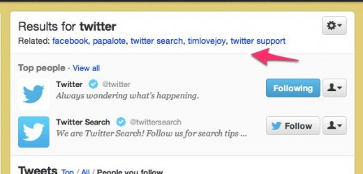 Twitter   Timeline Search twitter 1 520x250 Hands on with Twitters new Simpler Search: Timeline search is a game changer